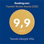 Booking Traveller Reviews Award dla Tamok Lifestyle Villa